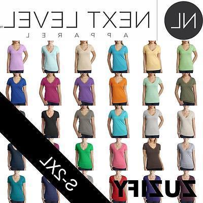 ladies junior fit cvc deep v neck