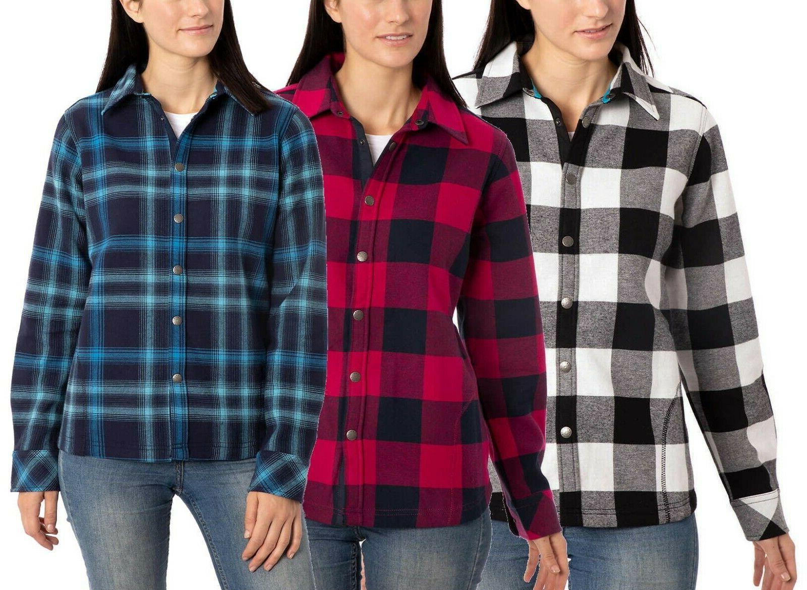 ladies women s flannel shirt jacket xs