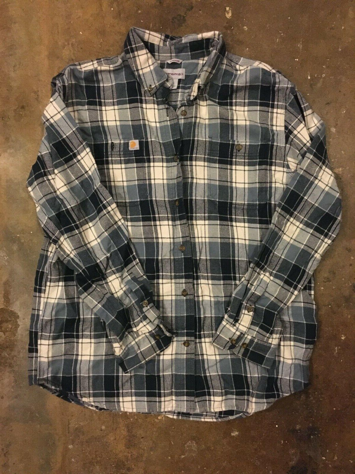 large flannel blue relaxed fit