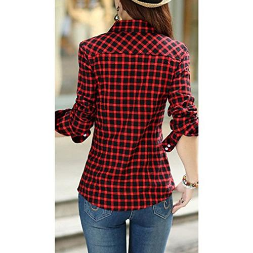Lasher Casual Plaid Button-up Shirts