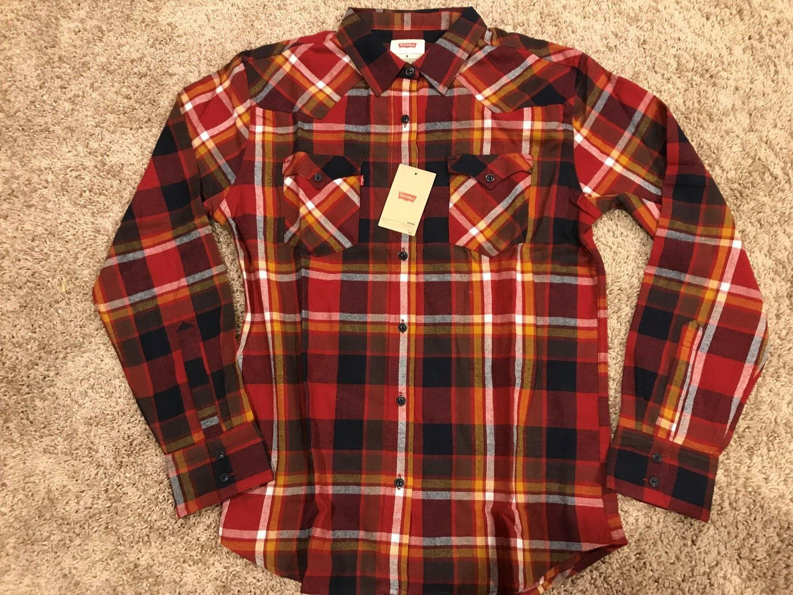 Levi's Flannel Shirt Mens Large RT NWT