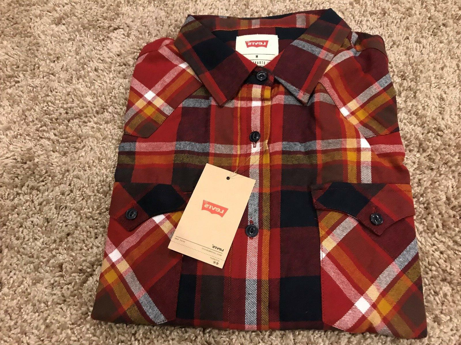 levi s longsleeve button front flannel shirt
