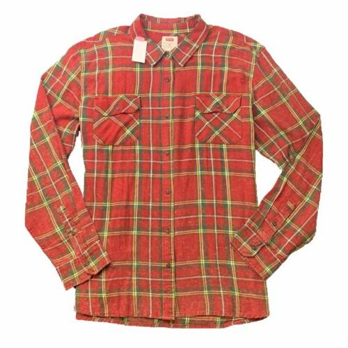levi s mens flannel shirt 4xl red