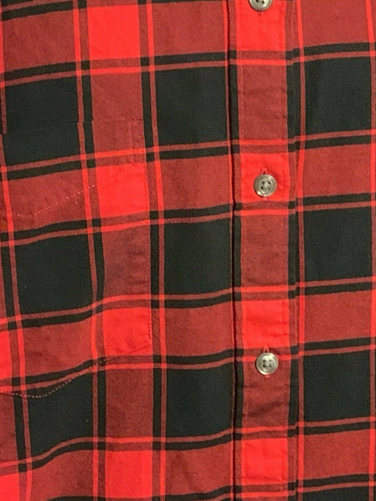 Goodthreads Flannel Red Plaid NWOT C10