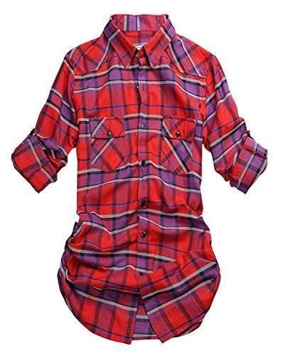 Match Women's Long Button Down Shirt