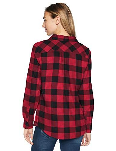 Classic-Fit Lightweight Flannel Shirt check,