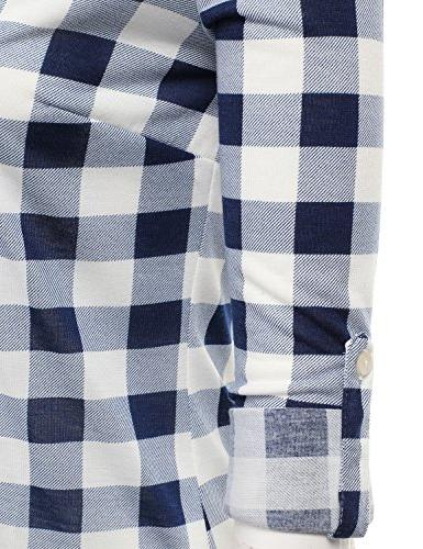 Sleeve Collared Plaid Flannel S