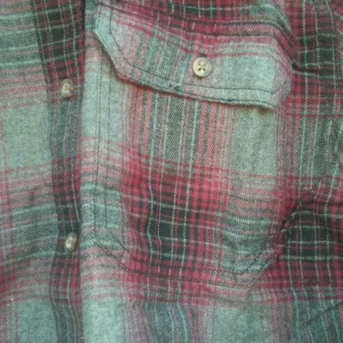 George Long Shirt Burgandy Pockets
