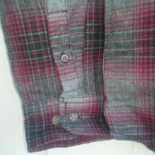 George Long Sleeve Shirt Burgandy