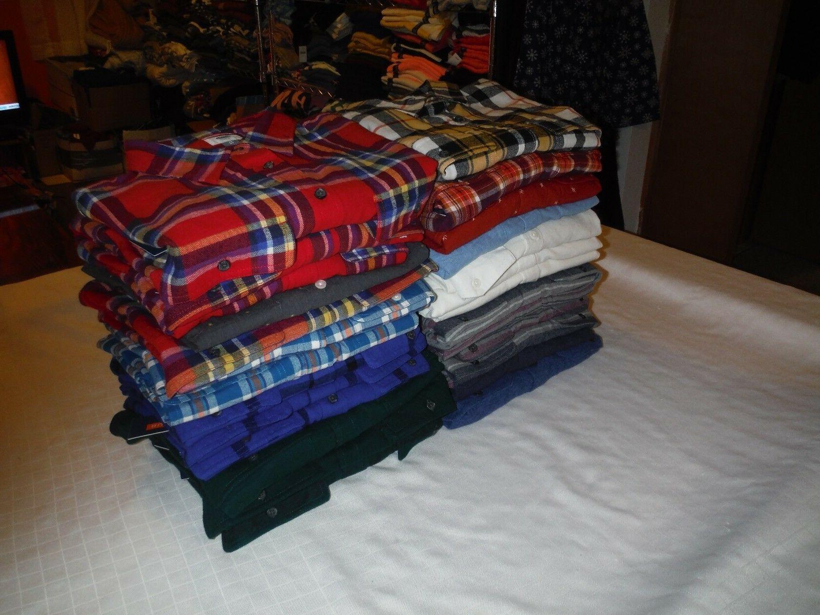 long sleeve full button men s flannel