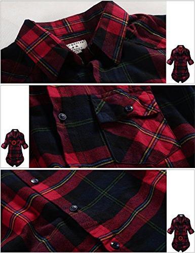 Match Plaid Flannel Shirt