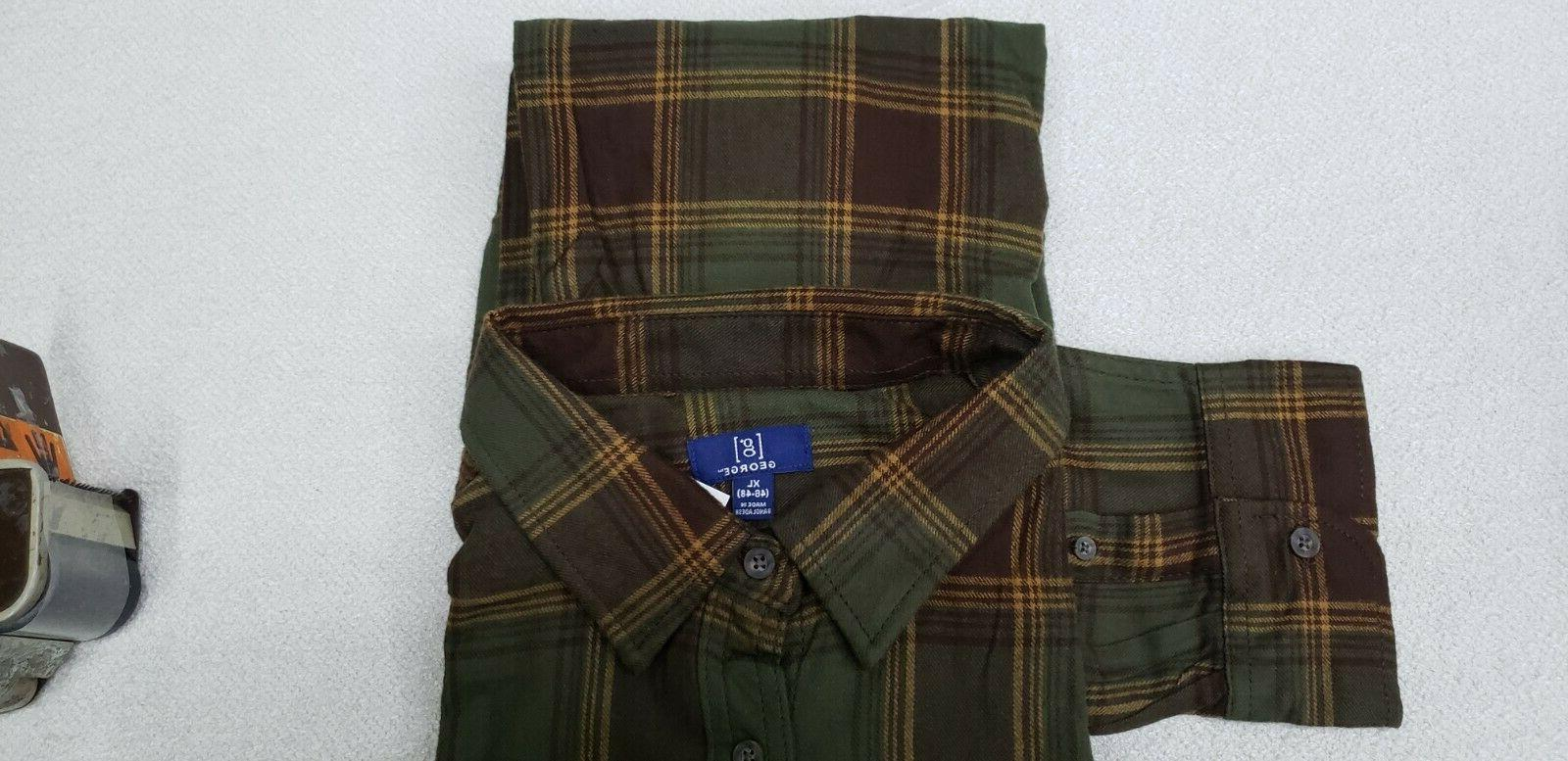 George Flannel 3XL New Brown