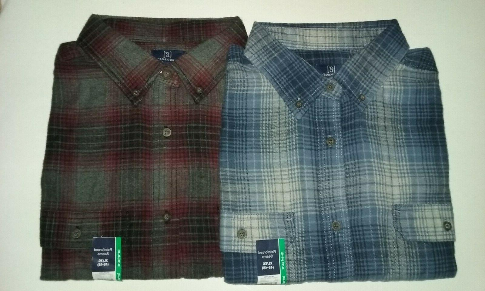 lot of 2 flannel shirts mens xl