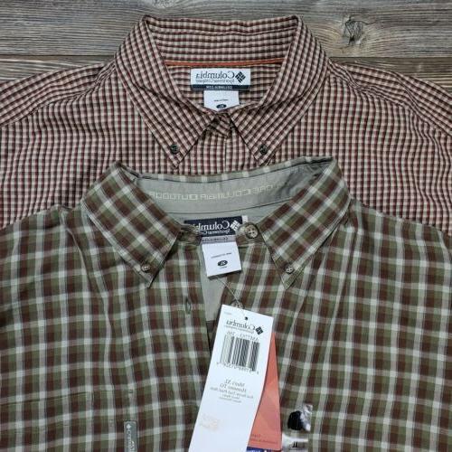 Lot Columbia Flannel Shirts Plaid