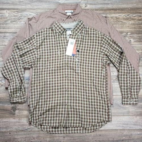 lot of 2 mens flannel button up