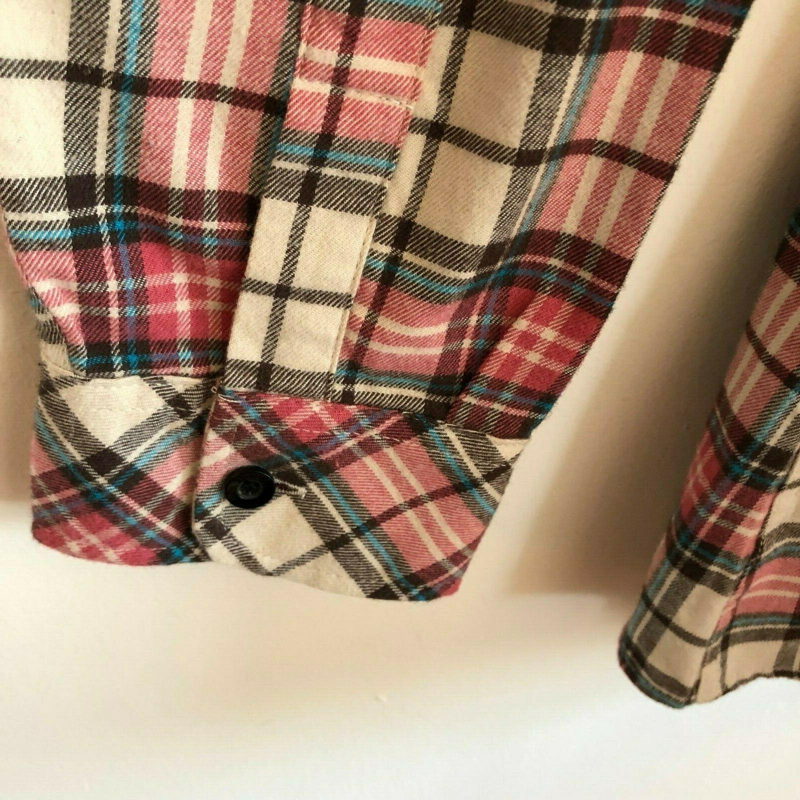 Match Matchstick Flannel Shirt Women's 10 12 Sz 5X NWT