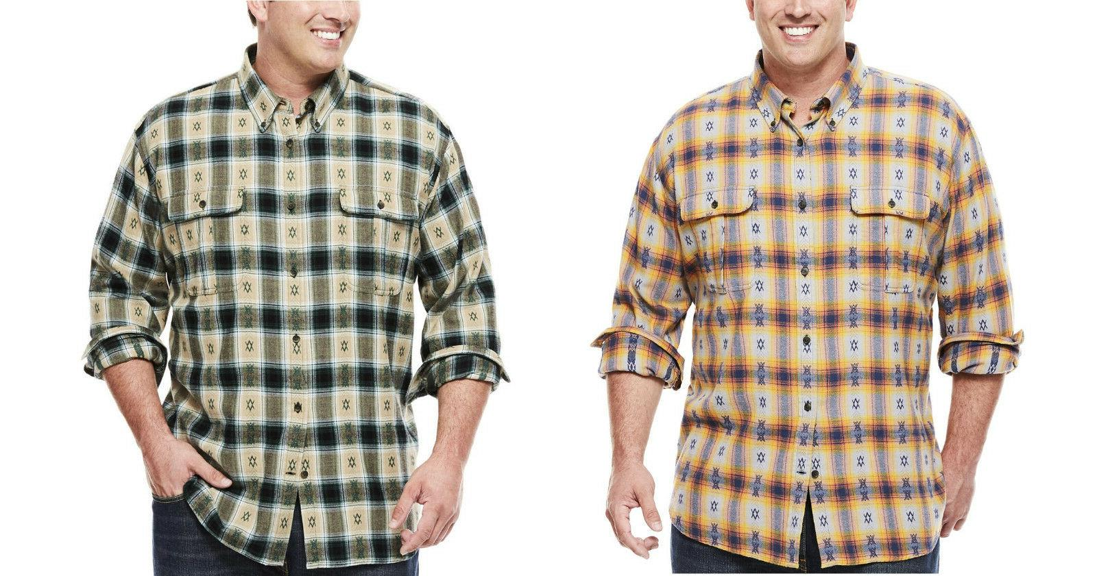 men big tall flannel work shirt lt