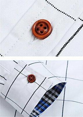 XTAPAN Button, White-plaid,