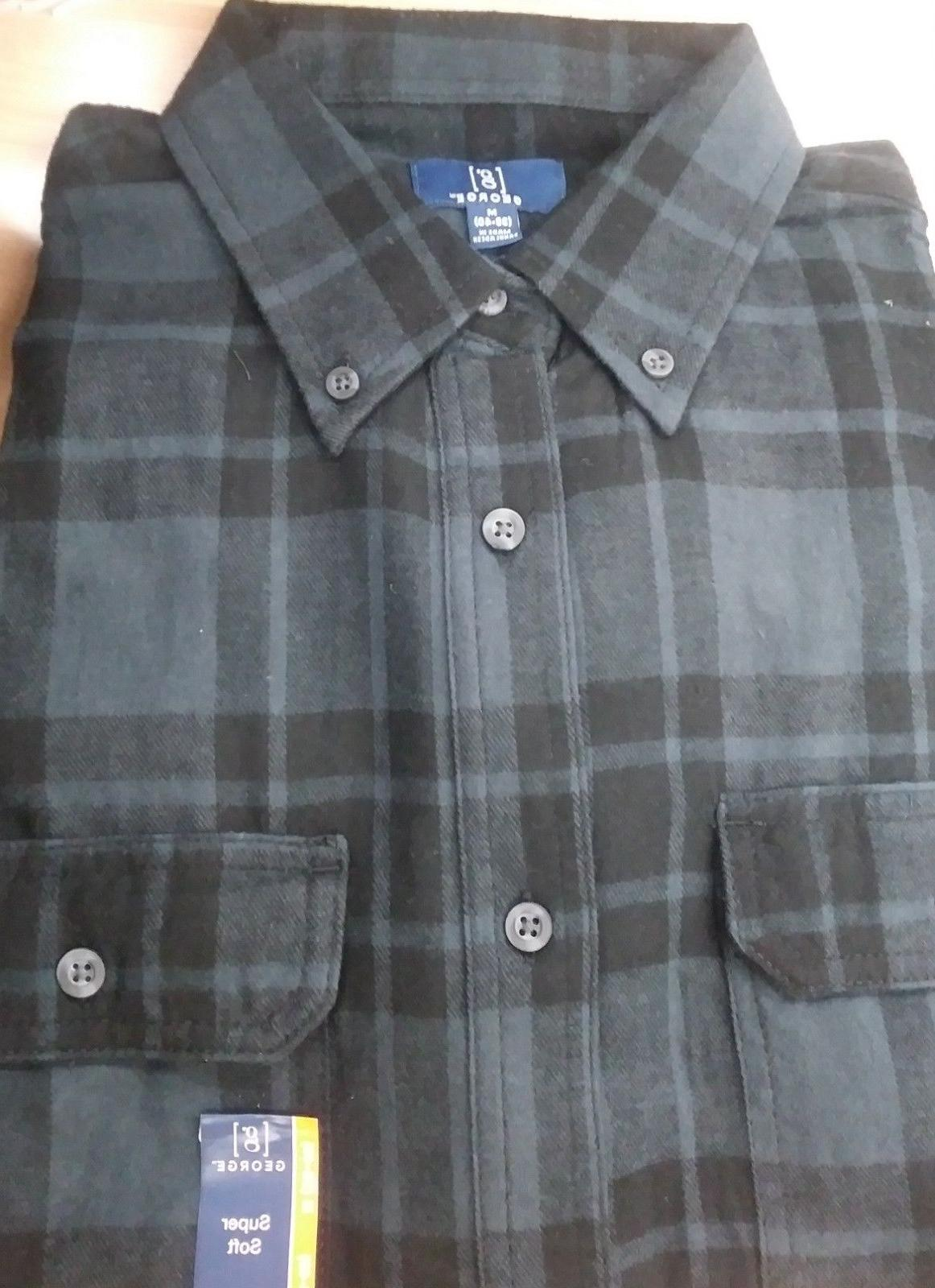 George Men Flannel Shirt 3XLT NWT REINFORCED SEAMS