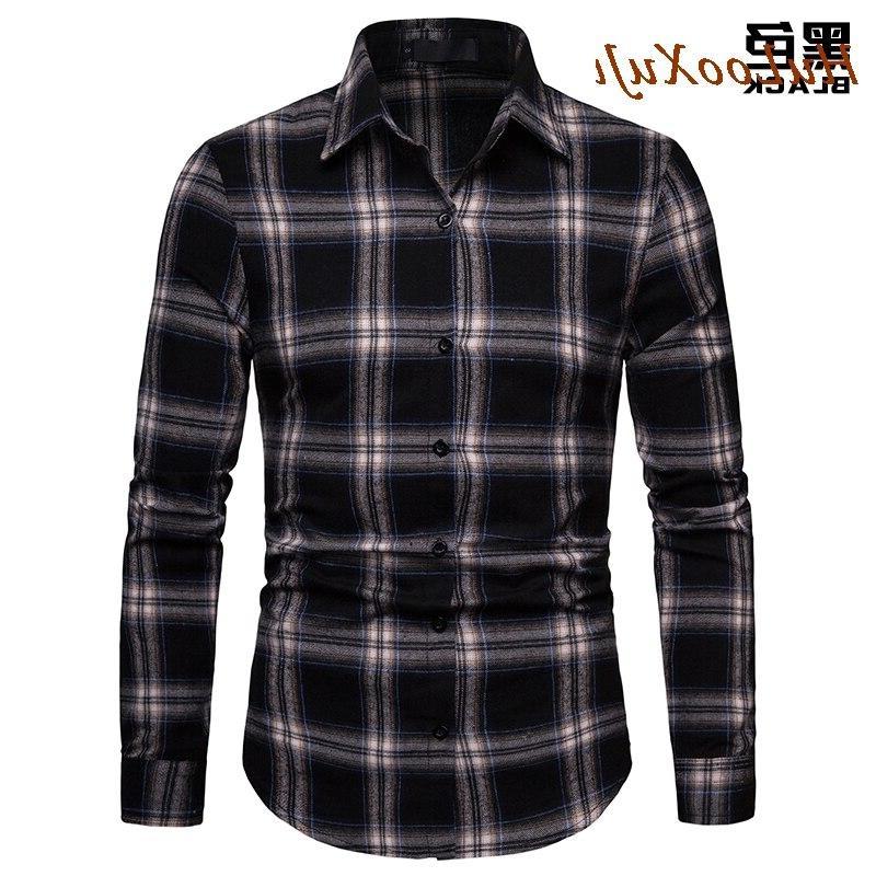 HuLooXuJi Men <font><b>Shirt</b></font> Cotton Autumn Long Sleeve <font><b>Shirt</b></font> Soft