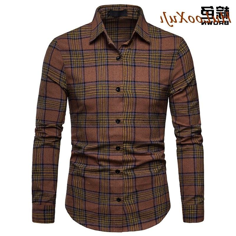 HuLooXuJi <font><b>Flannel</b></font> <font><b>Shirt</b></font> Cotton 2019 Autumn Casual Sleeve <font><b>Shirt</b></font> Soft Fit US