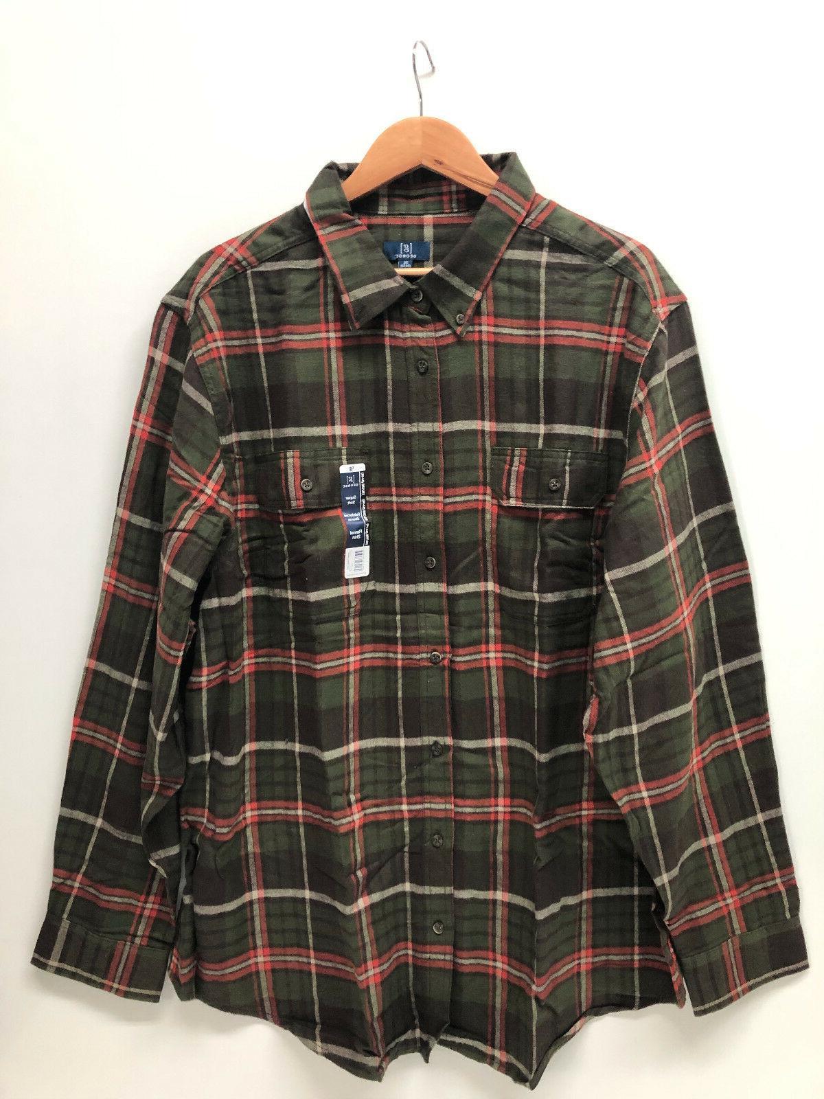 George Men Shirt Burgundy Soft XL
