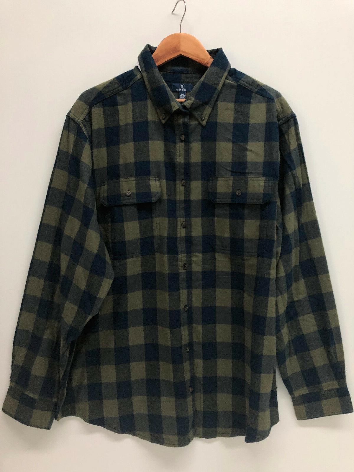 George Shirt Cotton Burgundy XL 3XL