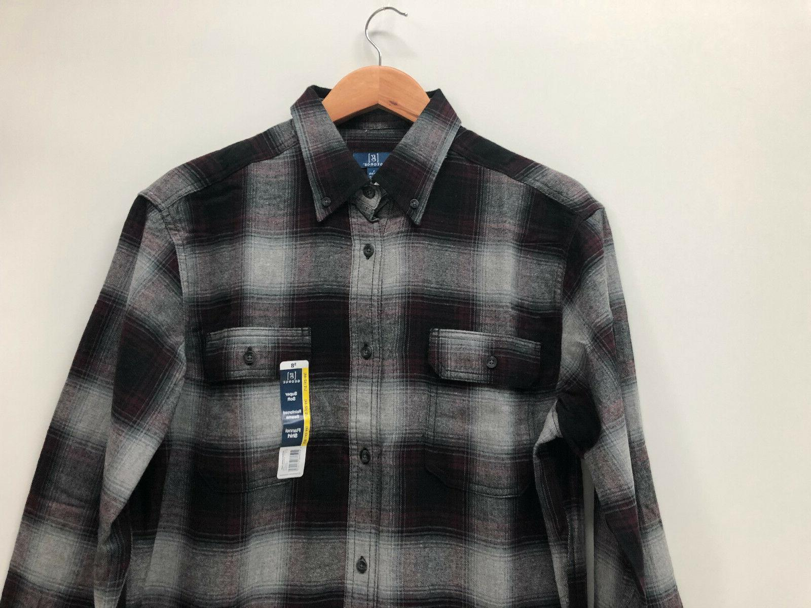 George Men Shirt Burgundy S XL 3XL