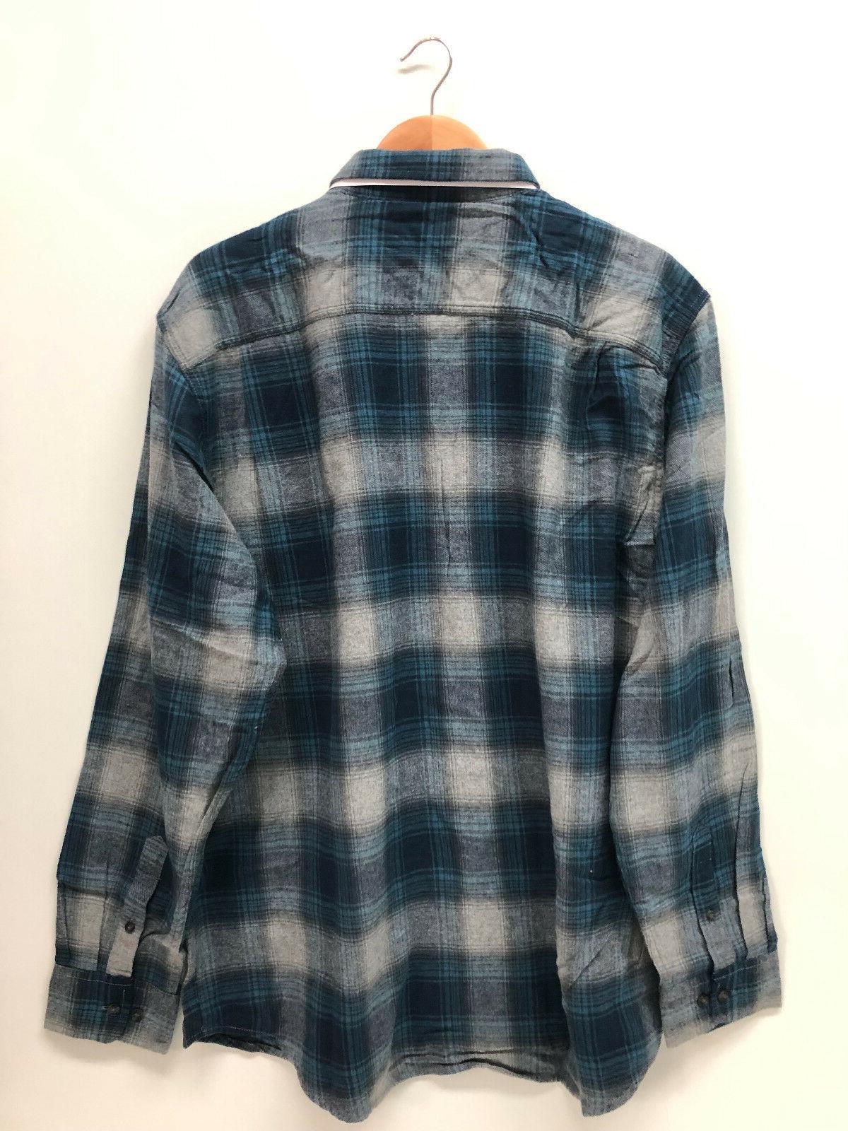George Men Shirt Green Blue XL 2XL 3XL