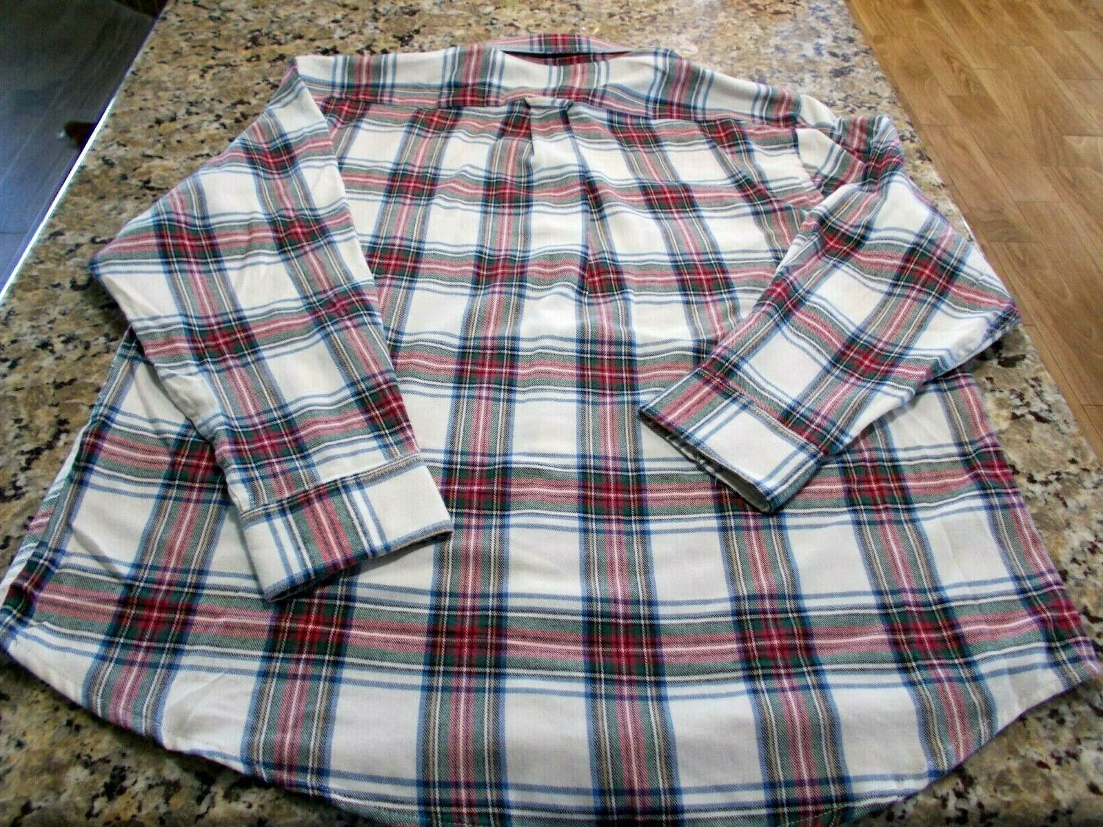 Izod Men's Red Shirt Down Flannel NWT