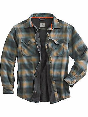 men s archer thermal lined shirt jacket