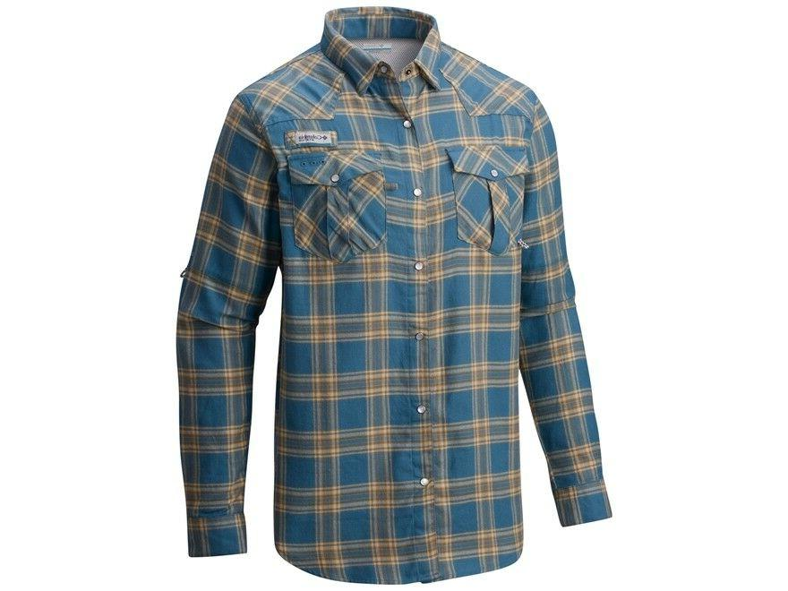 men s beadhead flannel long sleeve fishing