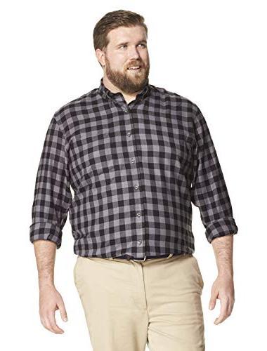 IZOD Tall Flannel Long Shirt, Rise,