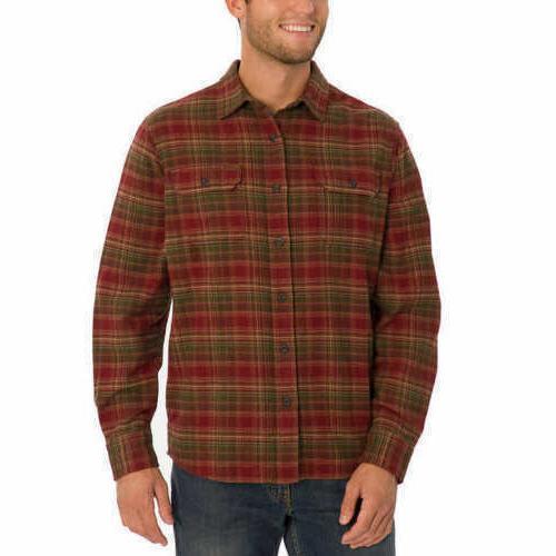 Orvis Men's Big Bear Heavy Weight Flannel Shirt -   FAST SHI