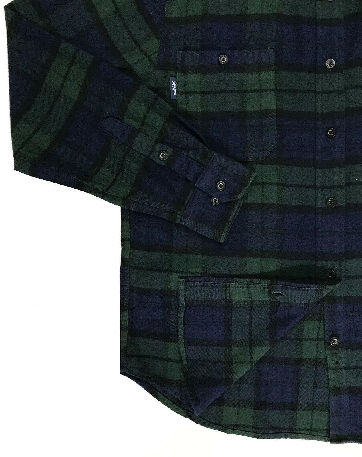 Men's WOOLRICH Green Black Plaid Shirt XL XLarge NEW