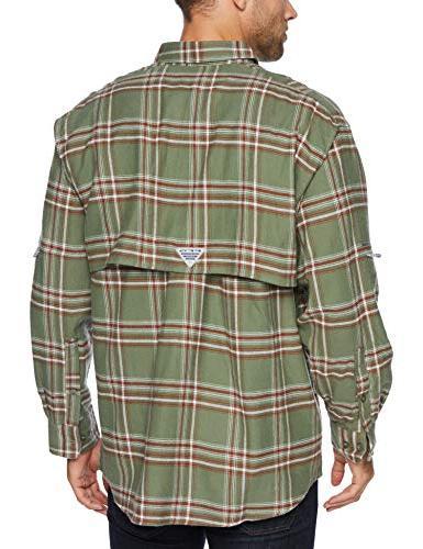 Columbia Men's Long Shirt, Cypress Large Plaid,