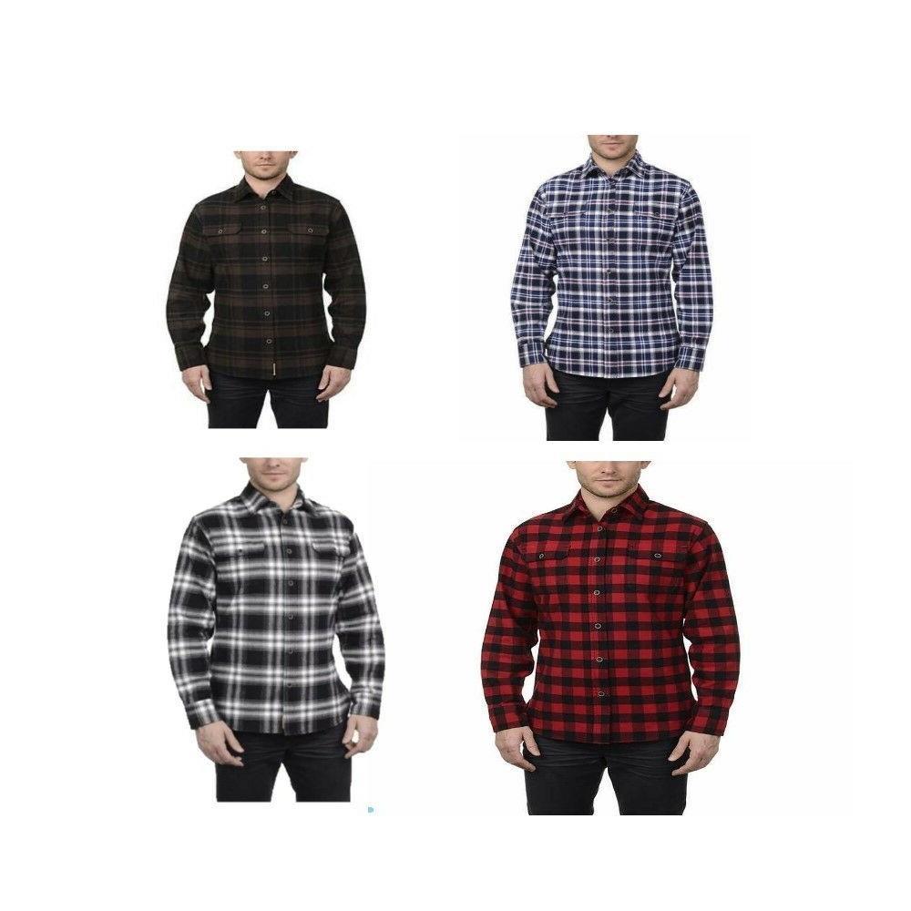 men s brawny flannel work shirt cotton