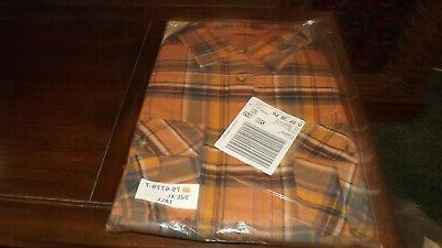 men s brown plaid flannel button down