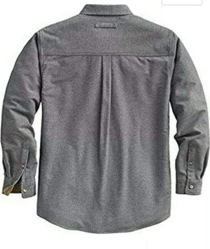 Legendary Camp Flannel Gray Shirt Size NWT