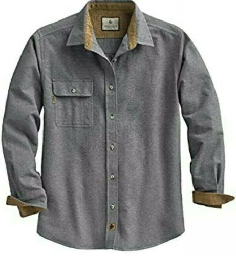 men s buck camp flannel gray shirt