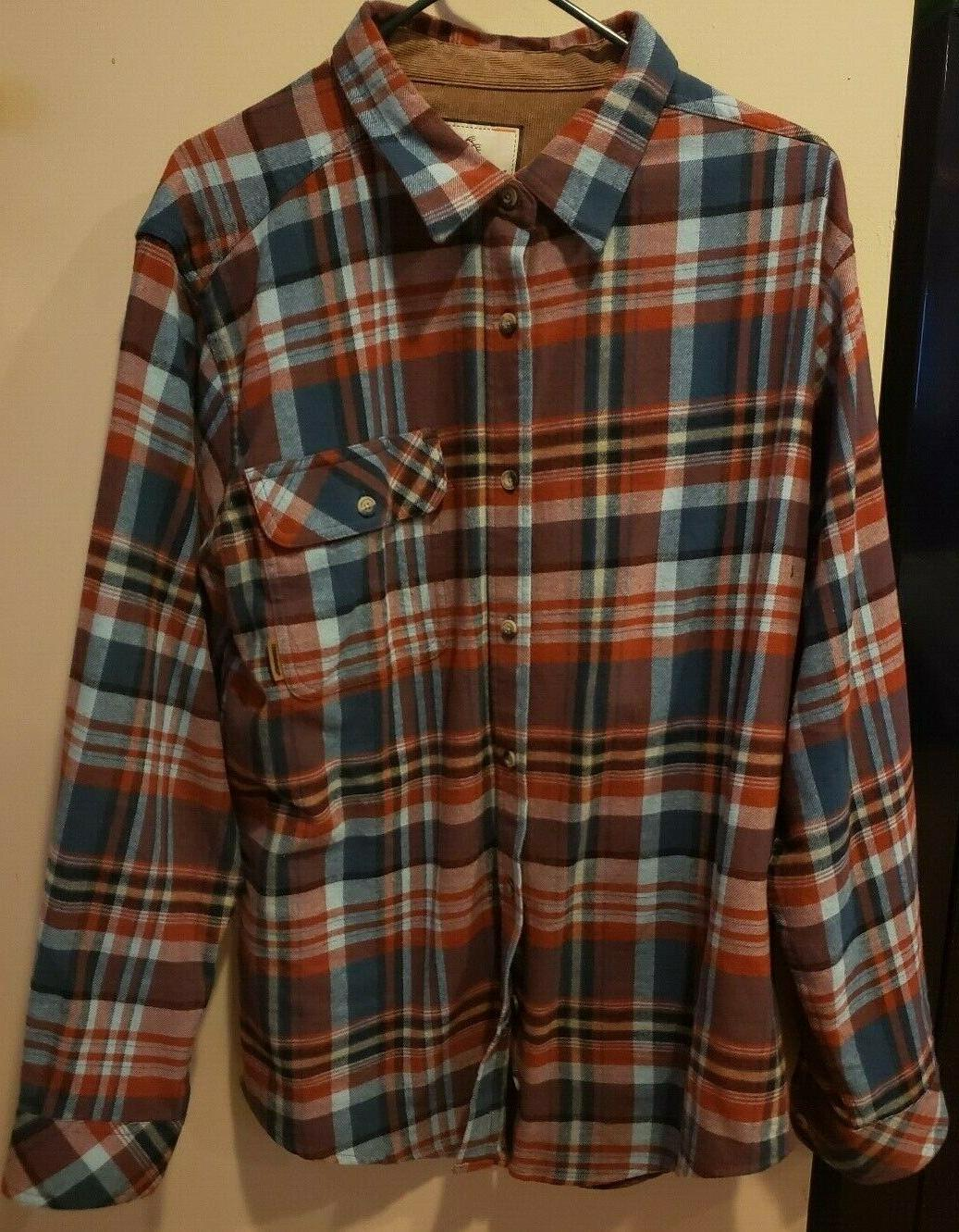 men s buck camp flannel plaid barnwood