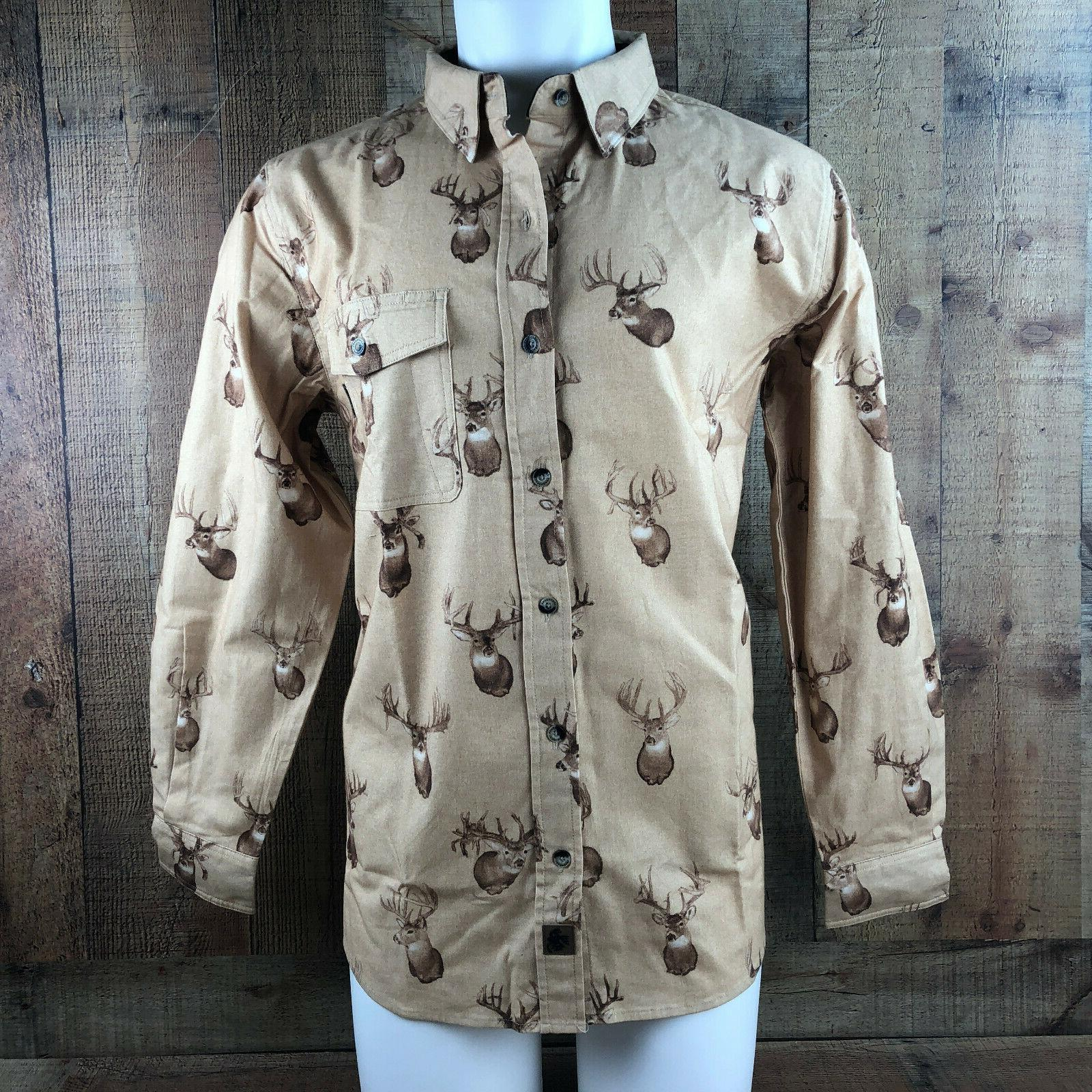 men s buck camp flannel shirt button