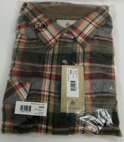 men s buck camp flannel shirt xlarge
