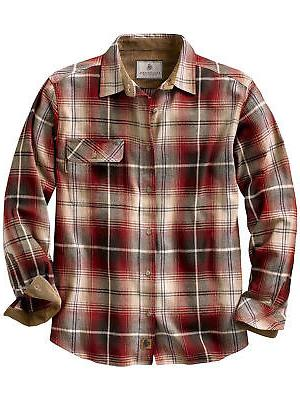 men s buck camp flannel shirt