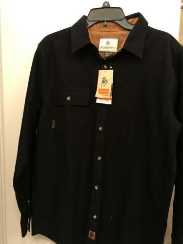 Legendary Whitetails MEN'S BUCK CAMP Black Shirt NWT