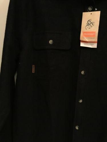 Legendary Whitetails MEN'S CAMP FLANNELS Black Shirt