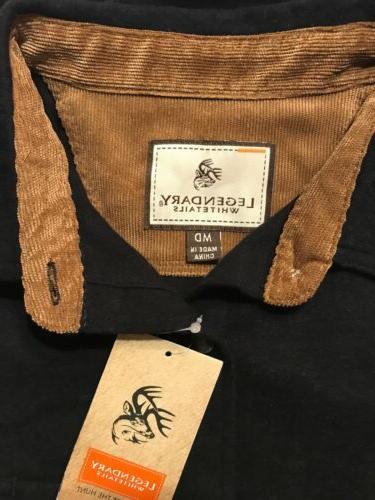 Legendary Whitetails CAMP Black Heather Shirt NWT Size