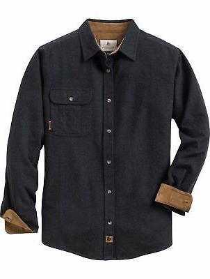 men s buck camp flannels solid heather