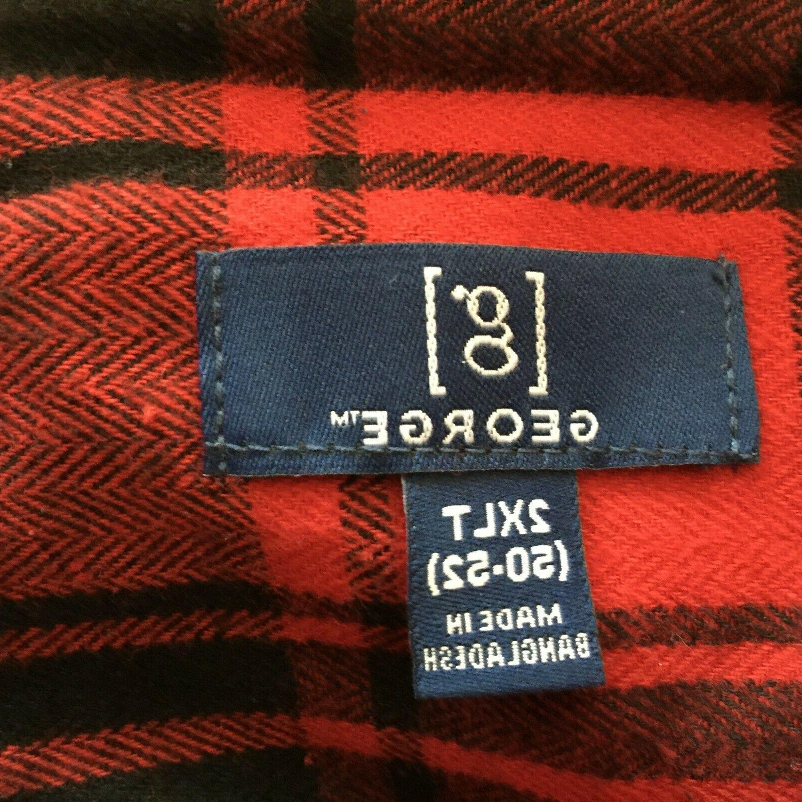 George Flannel 2XL Button Front Cotton