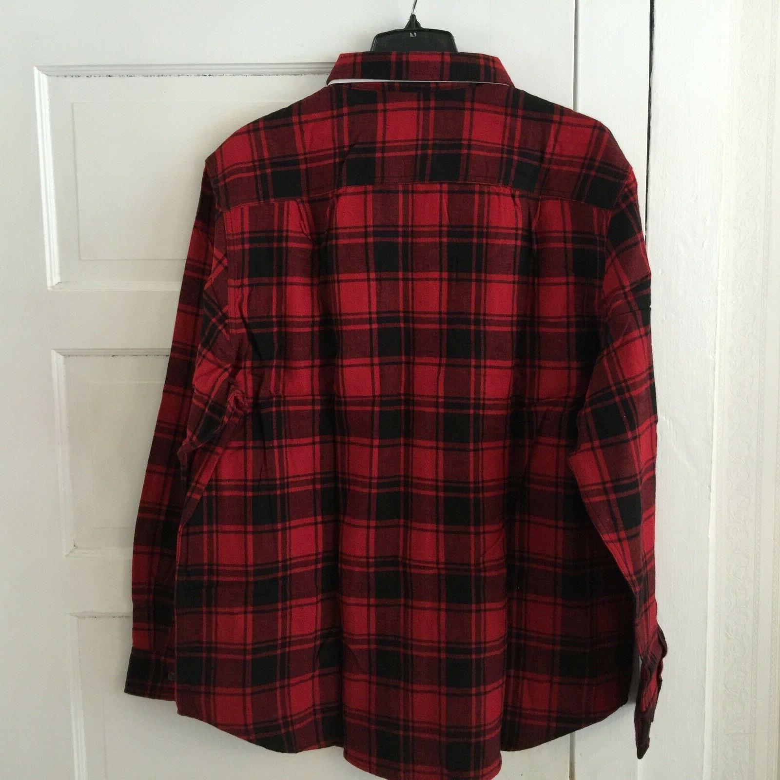 George Buffalo Flannel Shirt Plus 2XL Tall Cotton